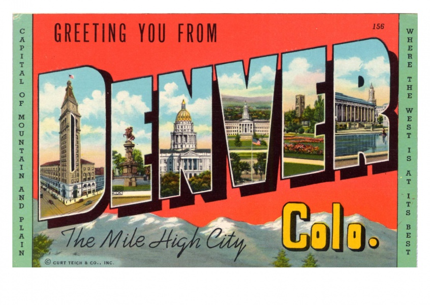 Curt Teich Postcard Archives Collection  greetings from Denver, Colorado
