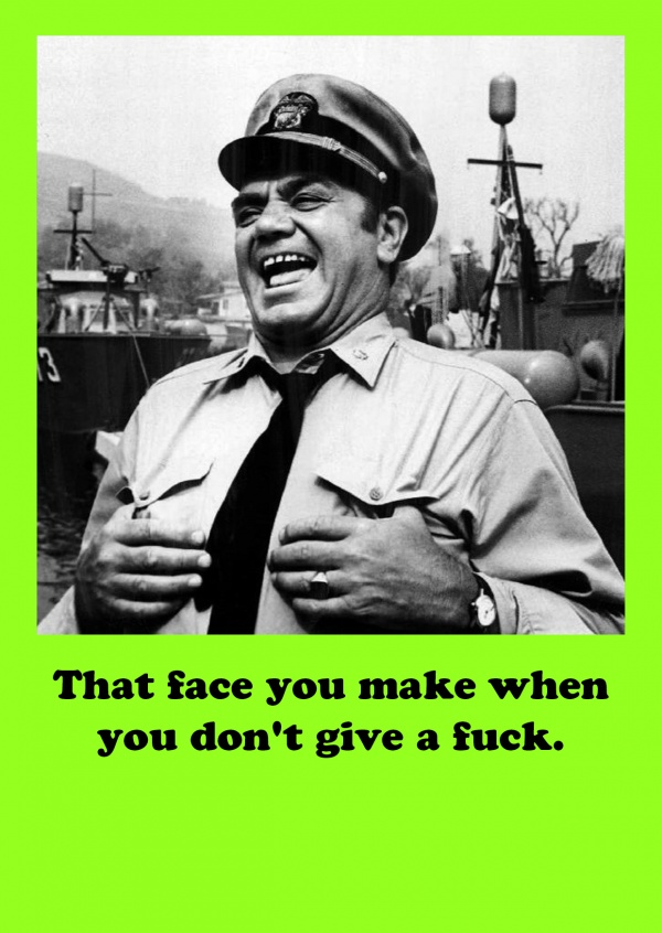 Photo Ernest Borgnine quote funny fuck