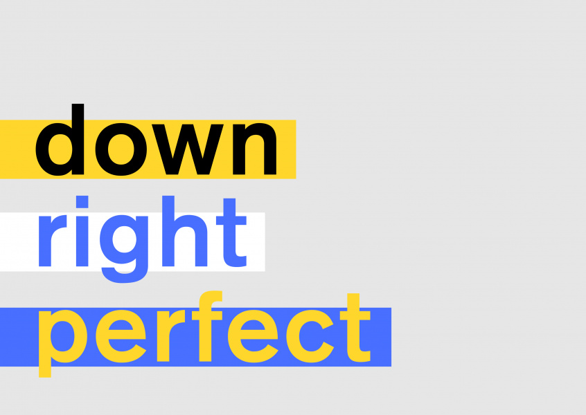 Downright Perfect, card in support of down syndrome