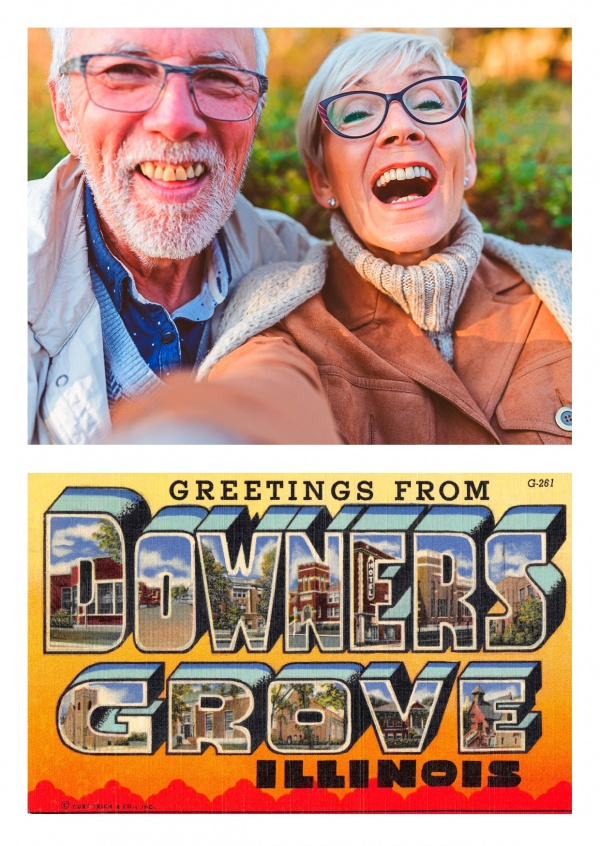 Downers Grove Illinois Large Letter Greetings