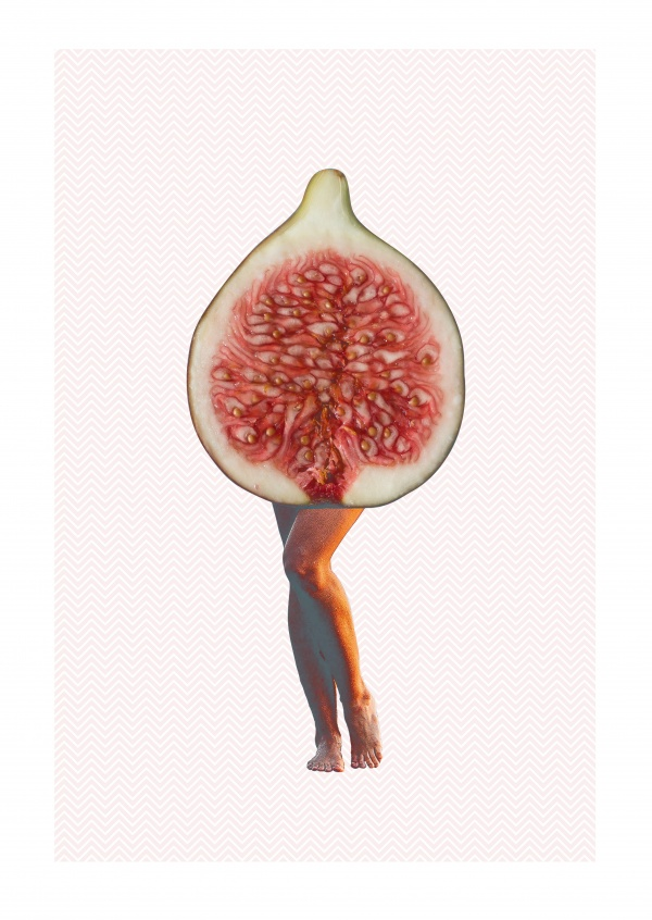 Woman legs in a fig body