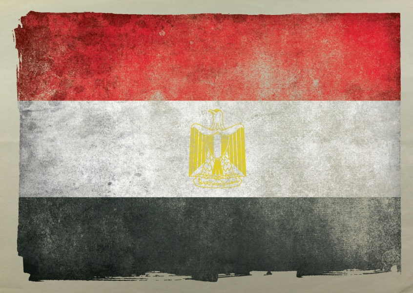 Egypt flag postcard