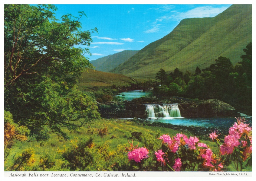 John Hinde photo d'Archive Asleagh Falls, près de Leenane, le Connemara