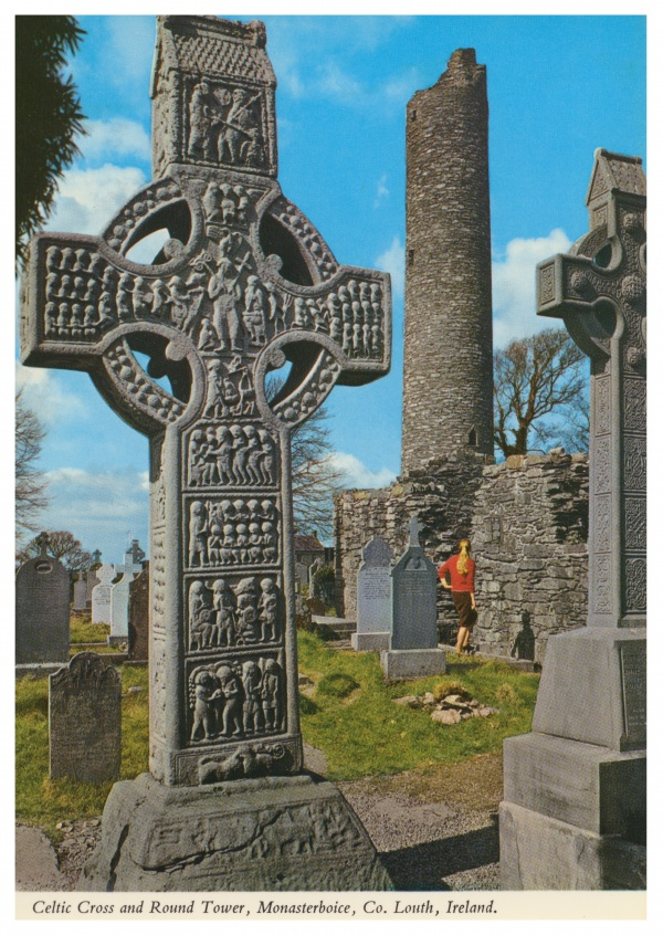 John Hinde photo d'Archive de la Croix Celtique, Monasterboice