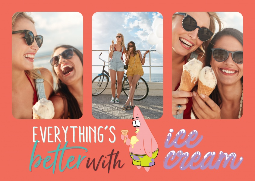 Everything's better with ice-cream - Spongebob characters