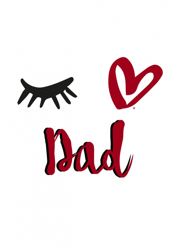 Eye-love dad black,red and white