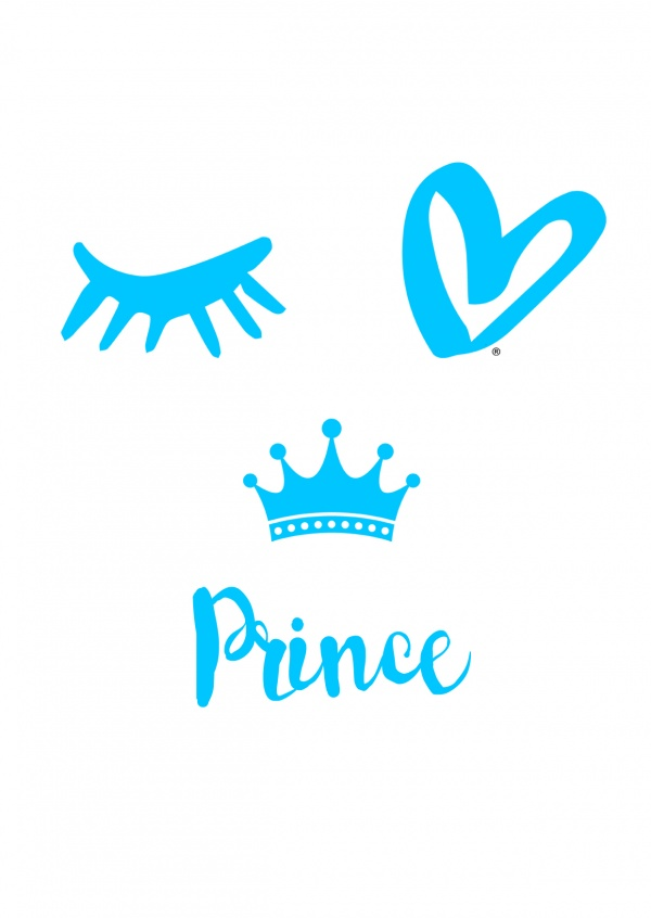 Eye-love prince blue and white