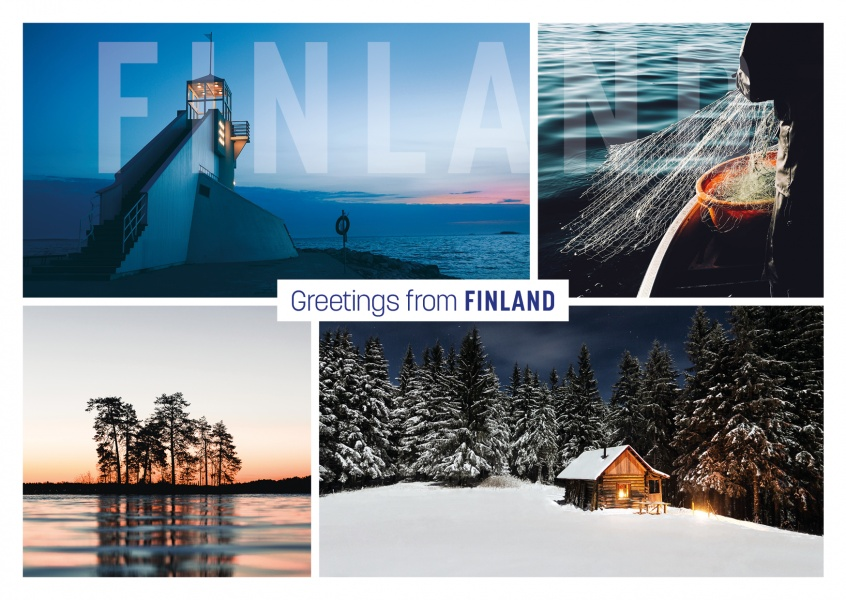 photocollage of Finlands nature