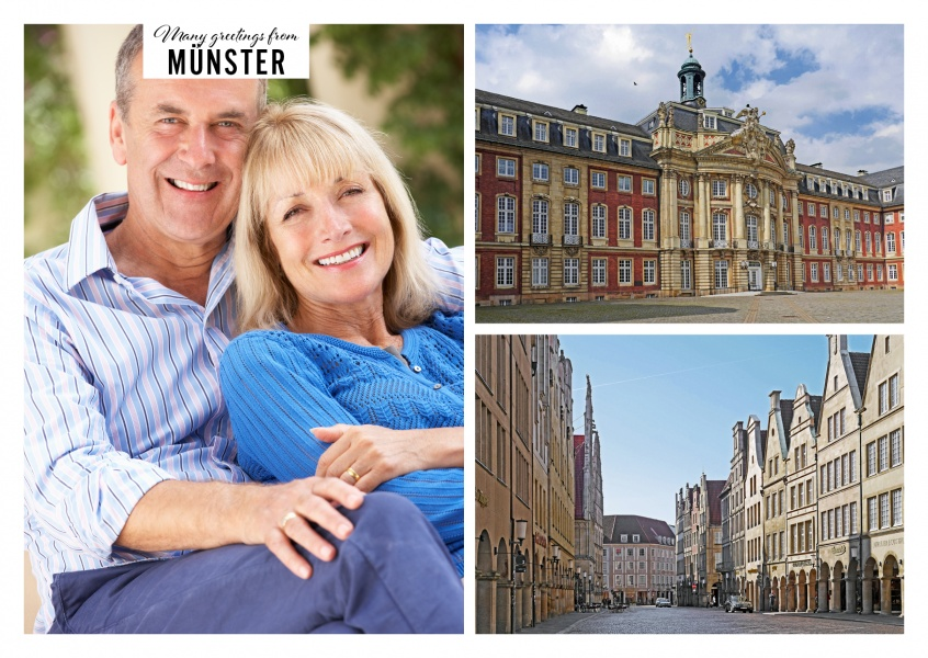 Photocollage with two photos of Münster in Westfalen