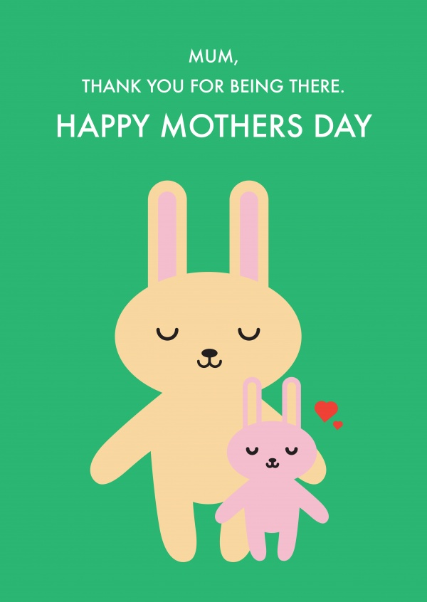 Happy Mothers Day Rabbits