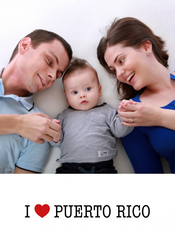 template with I love Puerto Rico sign
