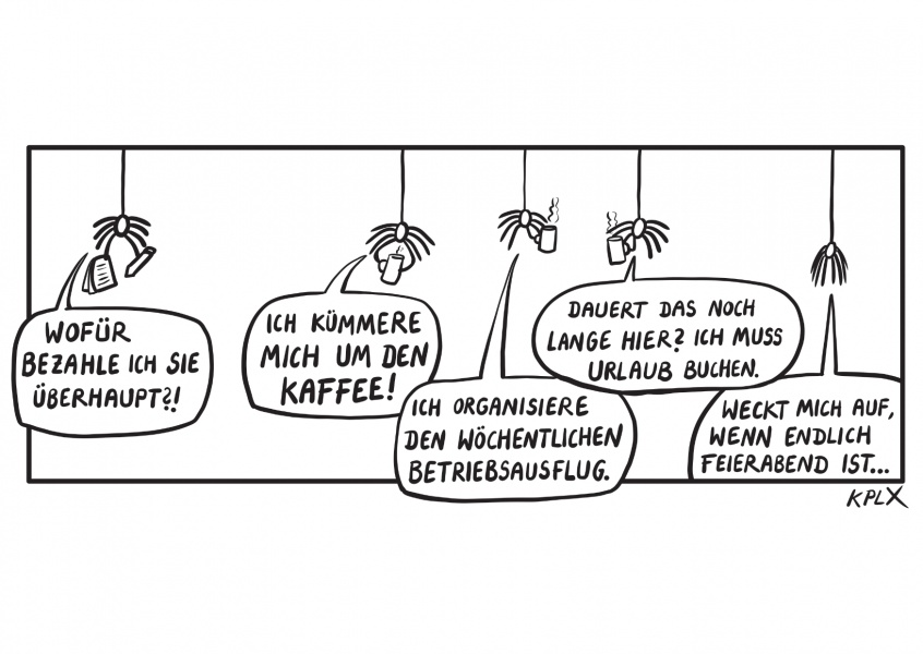 KPLX Cartoon Arbeit