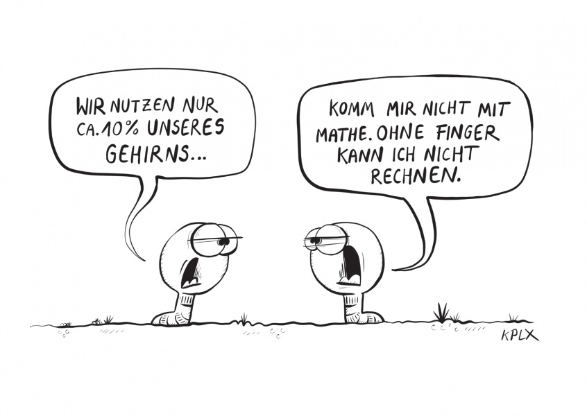 KPLX Wurmcartoon Mathe