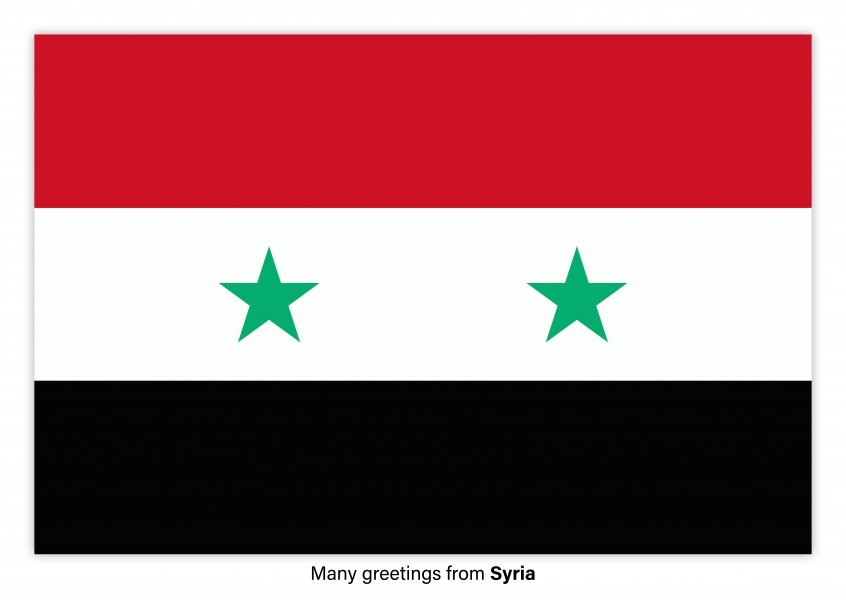 Postcard with flag of Syria