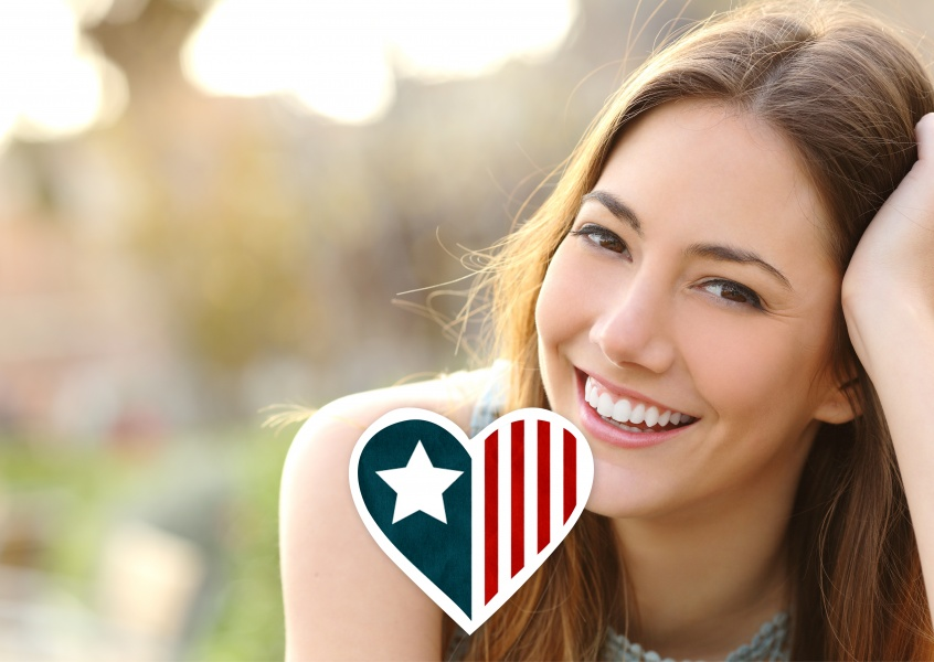 Heart with the american colors