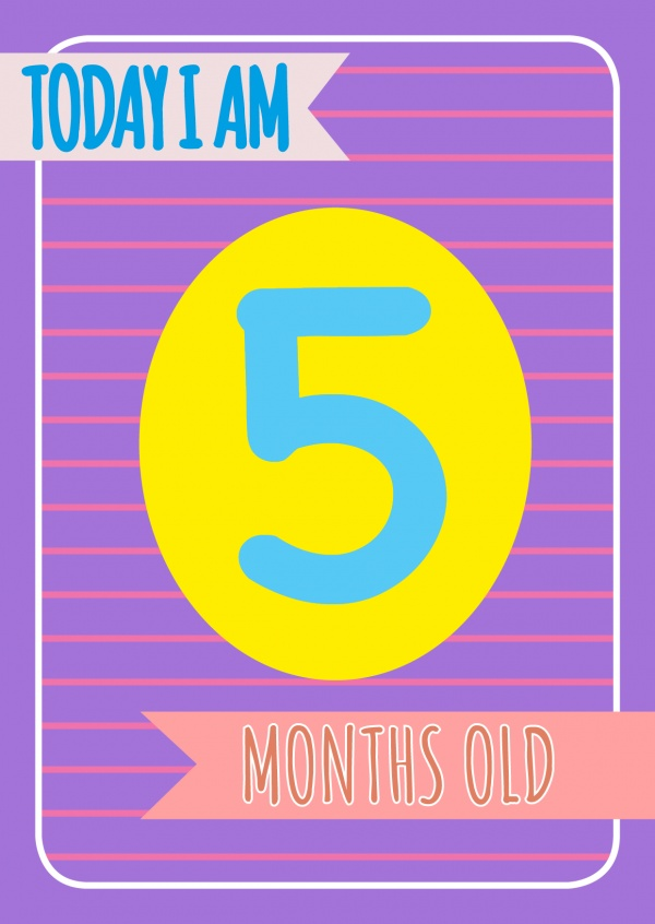 Today I am 5 months old-Lettering