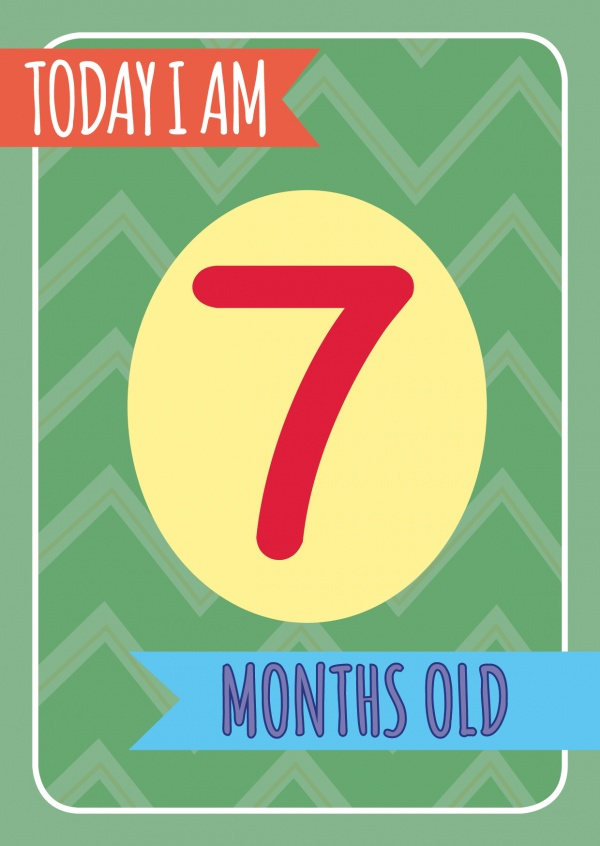 Today I am 7 months old-Lettering