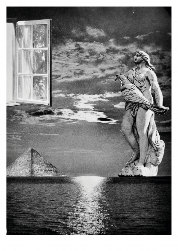 surrealistic collage by Belrost Holiday Dreamin