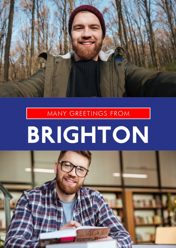 Brighton in Union Jack-style colours and font