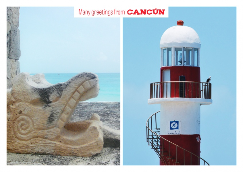 Cancún Maya-temple and lighthouse