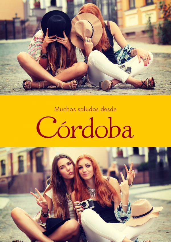 Córdoba Spanish greetings in country-typical colouring & fonts