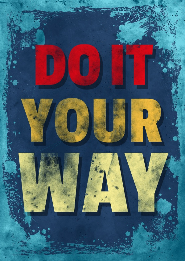 Vintage Spruch Postkarte: Do it your way