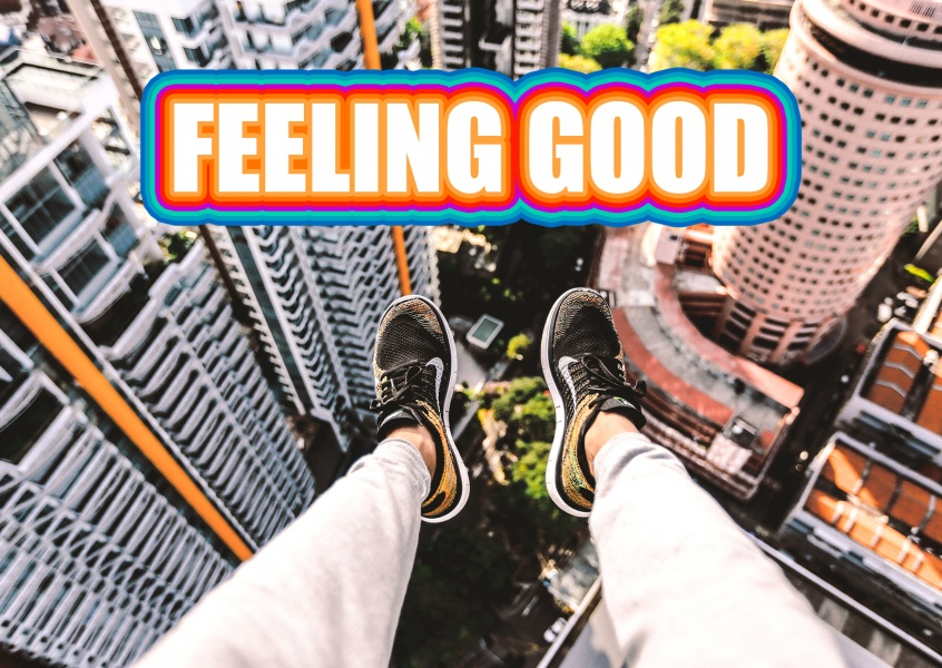feeling good postkarte mypostcard