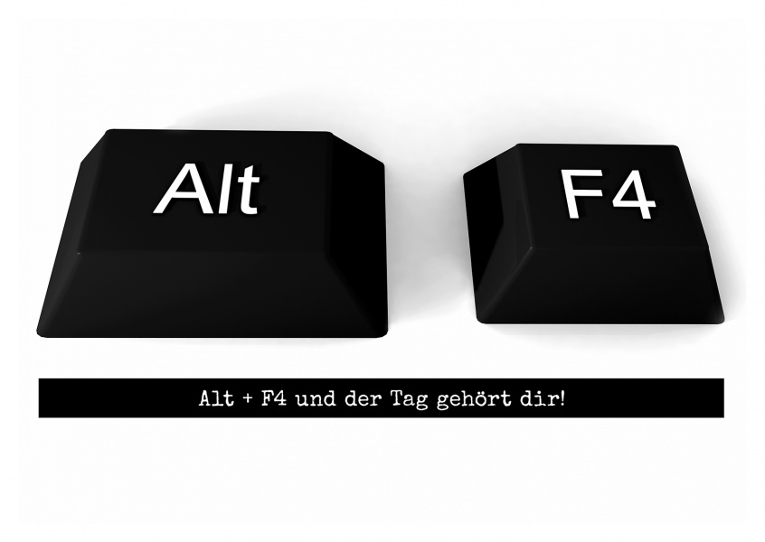 Key shortcut alt + F4 on keyboard