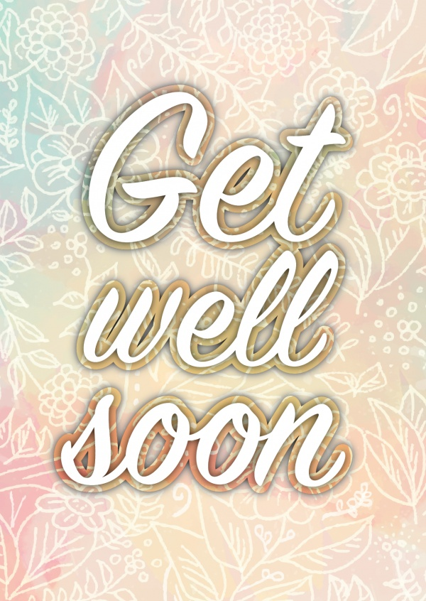 get well soon postkarte