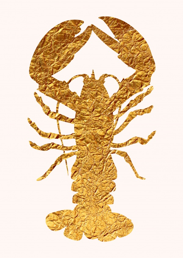 Kubistika golden Lobster