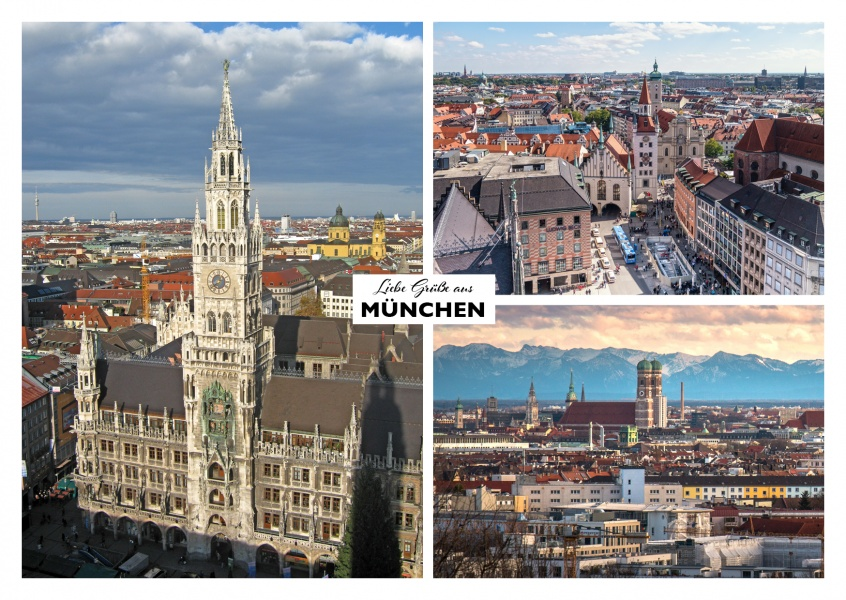 munich's panorama views and the city hall