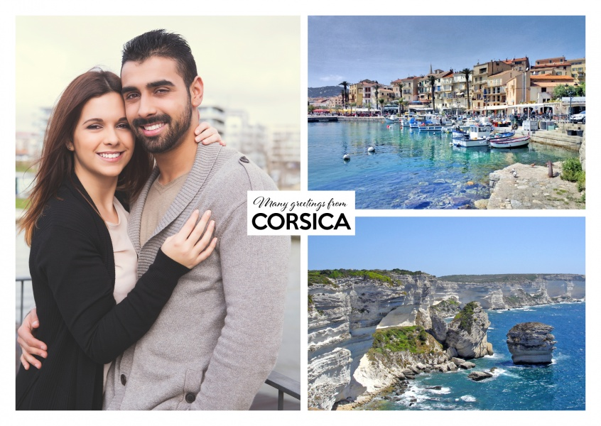 two photos of the coast area of Corsica