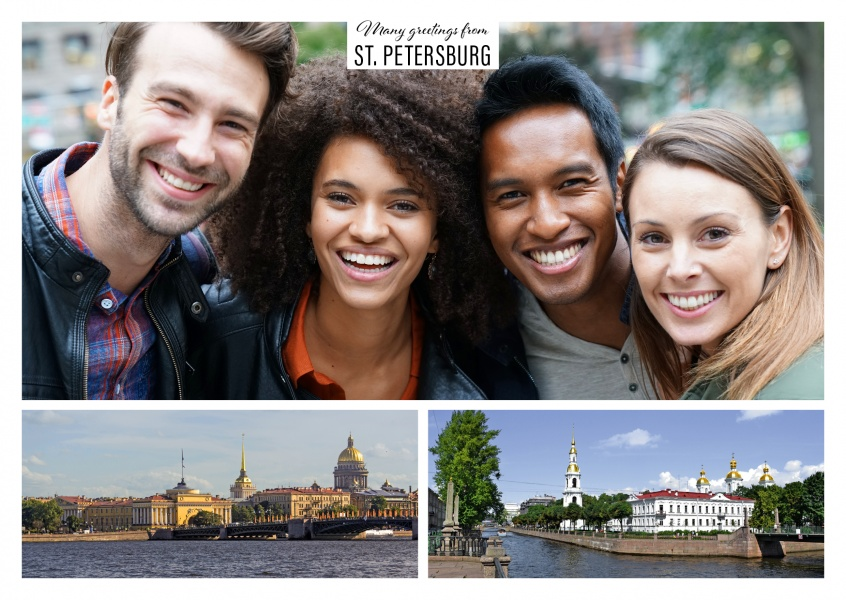St. Petersburg with water and city