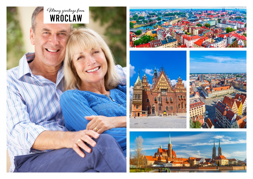 The architecture of Wroclaw, Cathedral island and the historical skyline