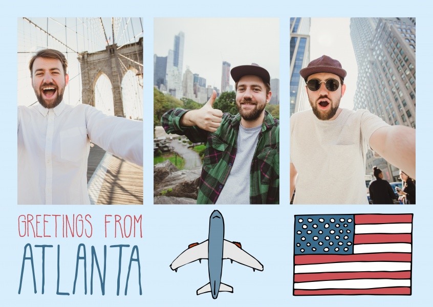 template with illustrations from Atlanta