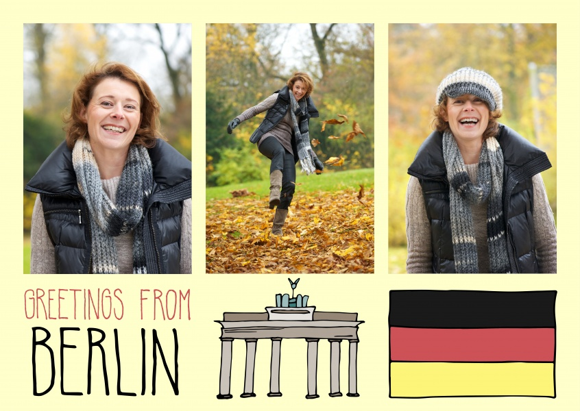 template with illustrations from Berlin