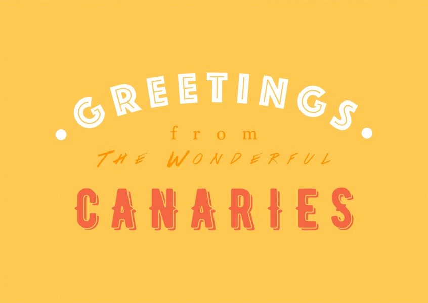 Greetings from the wonderful Canaries