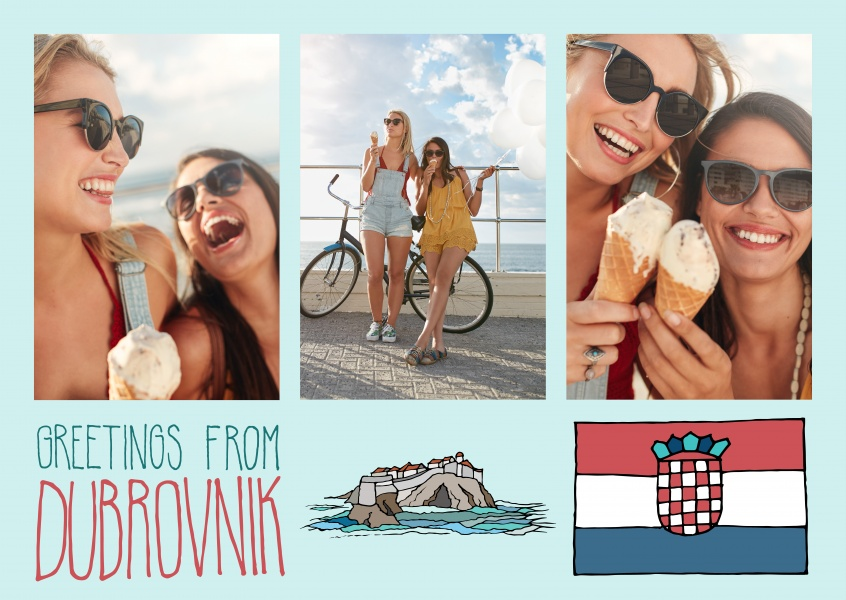 template with illustrations from Dubrovnik