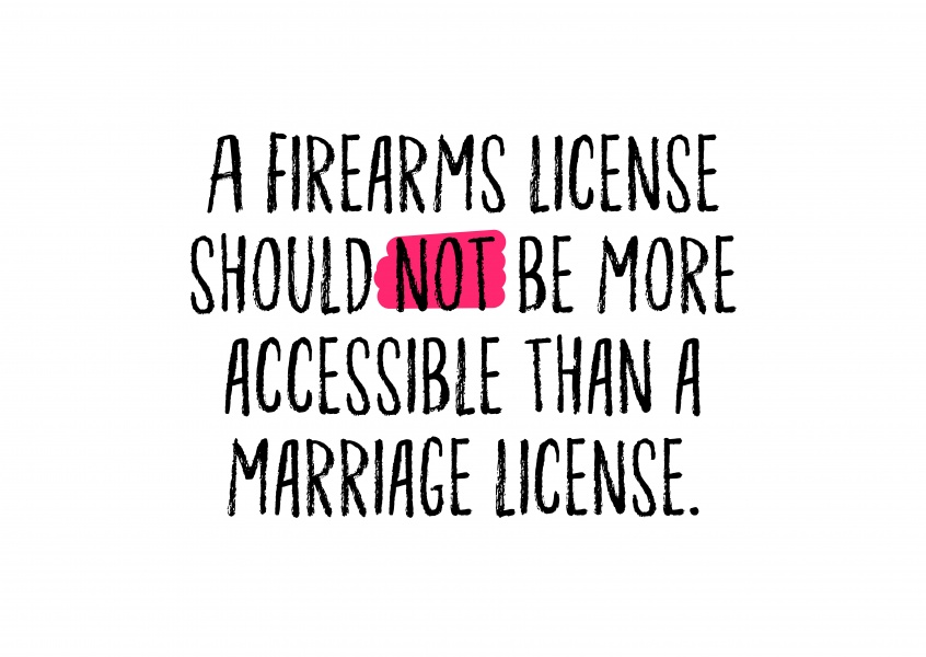 A firearms license should not be more accessible than a firearms license.