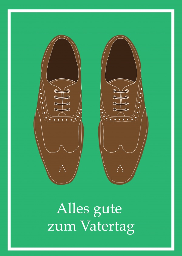 Happy Fathers day - brown shoes