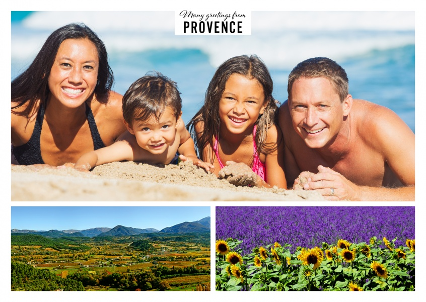 The Provence with lavender field and panorama