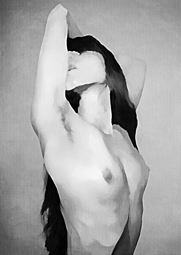 Kubistika nude woman in black and white