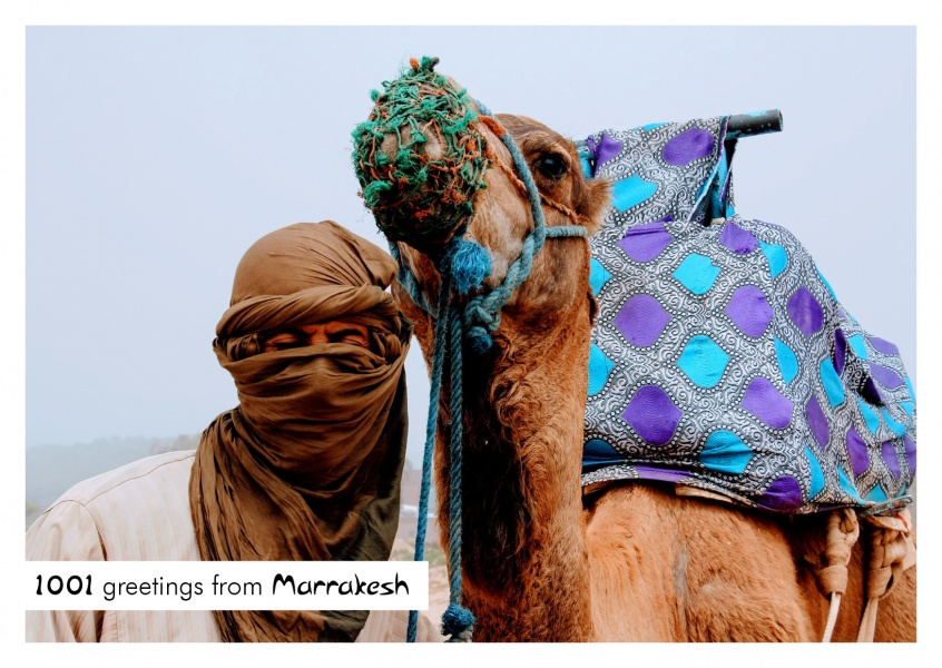 Photo Bedouin with camel