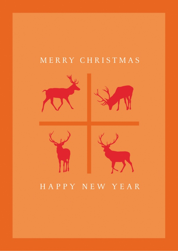 Meridian Design Merry Christmas & a Happy New Year Rentiere