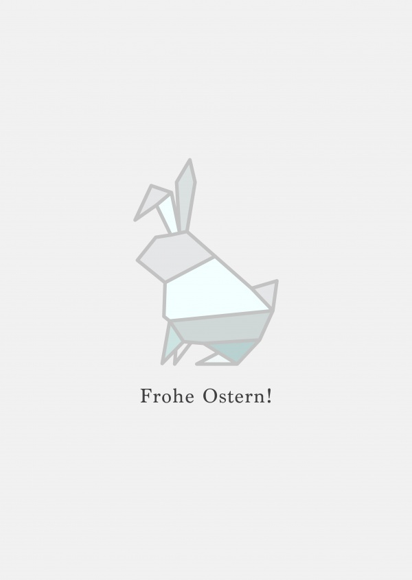 Origami Bunny, Frohe Ostern.