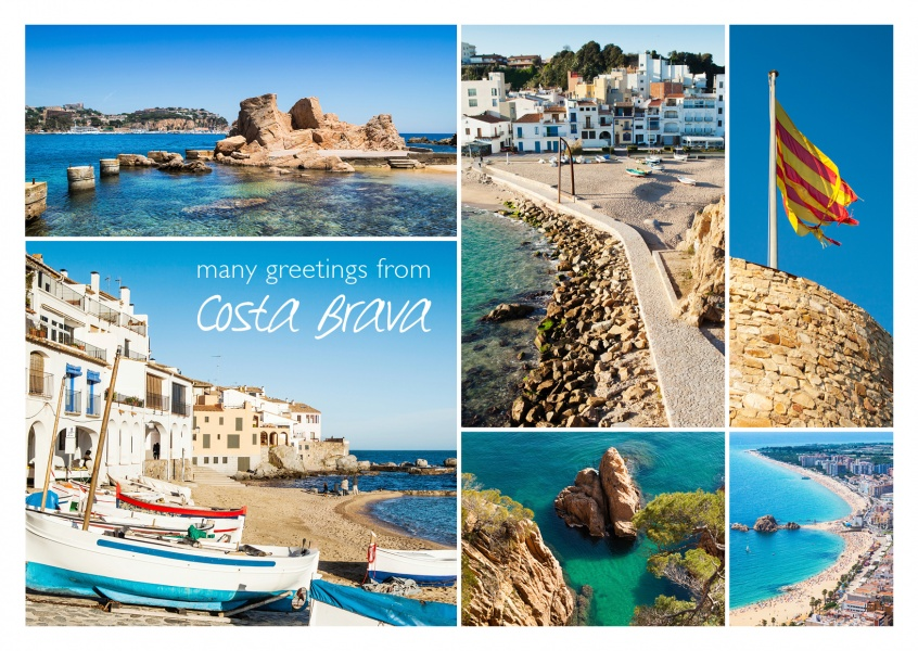 photocollage with multiple pictures of Costa Brava