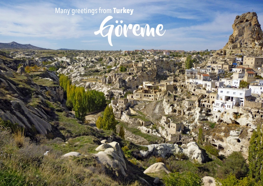 Postcard with photo of Göreme