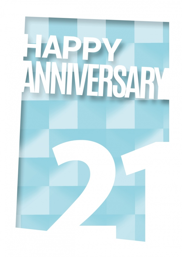 anniversary 21 postcard greeting card design