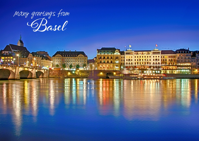 Greetingcard from Basel Switzerland