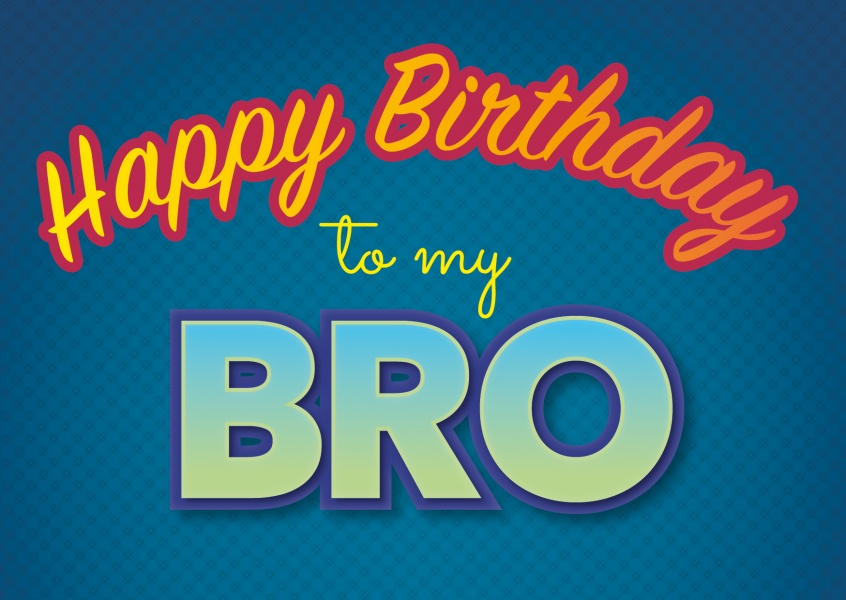 happy birthday to my bro postcard layout